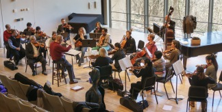 COFE first rehearsal at Swarthmore College 2/14/2016
